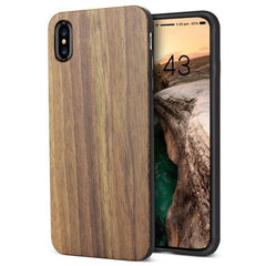 WOOD PHONE CASE WOODEN iPHONE CASE Walnut Yfwood Real Wood iPhone 10 X Case Best Ultra Thin Slim iPhone Cases