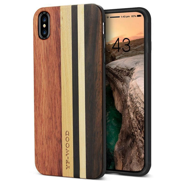 finest selection 0d663 3312a YFWOOD Real Wood Case for iPhone X XR XS Max Best Wooden iPhone Covers