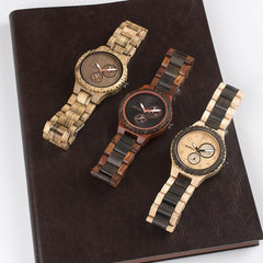 WOOD WATCH ALL WOOD WATCHES Bewell ZS-W15 Mens Wood Watches Top Brand Luxury Quartz Wood Wristwatch