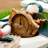 WOOD WATCH ALL WOOD WATCHES Bobo Bird LK29 Mens Fashion Zebra Wooden Watches Great Gift For Him