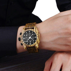 WOOD WATCH ALL WOOD WATCHES Sihaixin A19G Waterproof Natural Handmade Men's Walnut Wooden Watch