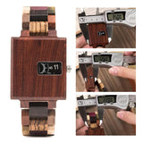 Bobo Bird R23 Rectangular All Wooden Wristwatches for Men and Women