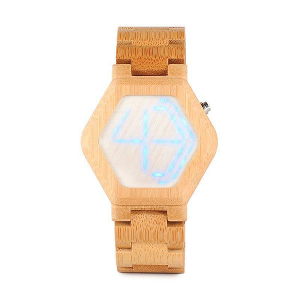 WOOD WATCH ALL WOODEN WATCHES 1 Bobo Bird CE03 Led Digital Bamboo Wood Watch With Night Vision For Men