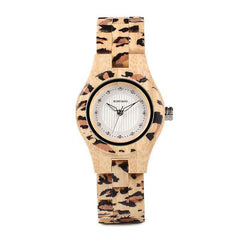 WOOD WATCH ALL WOODEN WATCHES 1 Bobo Bird P26 Handmade Leopard Pattern All Wood Watch For Women