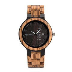 WOOD WATCH ALL WOODEN WATCHES Black Face Bobo Bird O26 Handmade All Wood Watch With Japanese Movement For Men