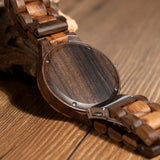 WOOD WATCH ALL WOODEN WATCHES Bobo Bird D30 Handmade All Wood Watch With Hardlex Great Gift For Him