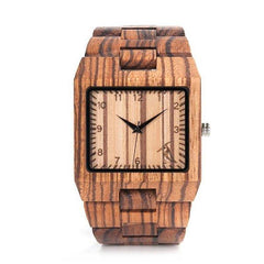 WOOD WATCH ALL WOODEN WATCHES Bobo Bird L24 Rectangular Handmade All Wooden Watch Great Gift For Him