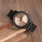 WOOD WATCH ALL WOODEN WATCHES Bobo Bird N07 Handmade Ebony Wood Watch Great Gift For Men