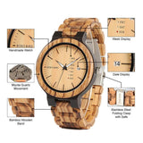 Bobo Bird O26 Handmade All Wood Watch With Japanese Movement For Men