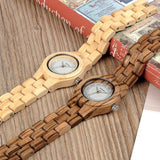 WOOD WATCH ALL WOODEN WATCHES Bobo Bird O29 Natural Handmade Zebra Wood Watch Great Gift For Her