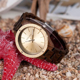 WOOD WATCH ALL WOODEN WATCHES Bobo Bird P05 Lux Natural Handmade All Wood Watch Great Gift For Men