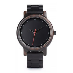 WOOD WATCH ALL WOODEN WATCHES Bobo Bird P10 Black Handcrafted All Wood Watch With Hardlex For Men