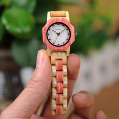 WOOD WATCH ALL WOODEN WATCHES Bobo Bird Q02 Natural Handmade Casual Wooden Watches For Women