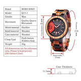 WOOD WATCH ALL WOODEN WATCHES Bobo Bird Q13 Eco-Friendly Handmade All Wood Watch Great Gift For Men