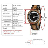 WOOD WATCH ALL WOODEN WATCHES Bobo Bird R07 Engraved Handmade Wood Watch Great Gift For Men
