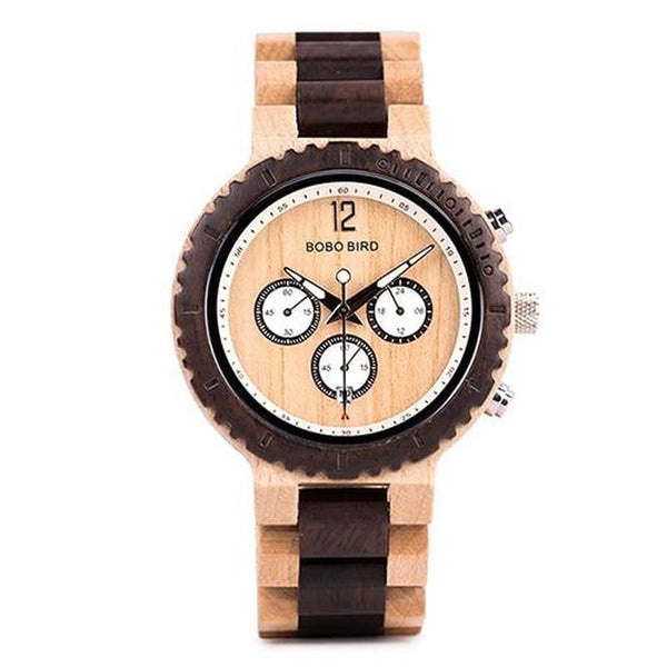 WOOD WATCH ALL WOODEN WATCHES R08-1 Wood Band Bobo Bird R08 Natural Handmade Wood Watch Great Gift For Men And Women