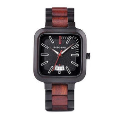 WOOD WATCH ALL WOODEN WATCHES Wooden Band R09-1 Bobo Bird R09 Handmade Rectangular All Wooden Watch For Men And Women