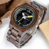 WOOD WATCH ALL WOODEN WATCHES Yellow Pointer Bobo Bird P02 Handmade Wood Watch With Dual Display For Men