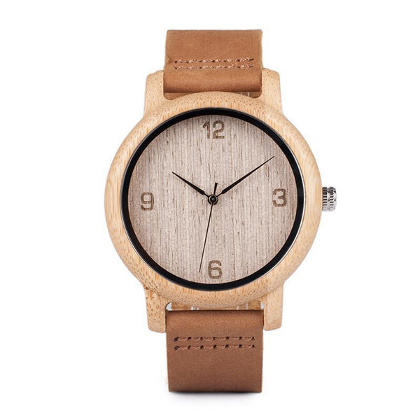WOOD WATCH LEATHER BAND WATCHES 1 Bobo Bird L09 Casual Leather Band Bamboo Wood Watch Great Gift For Her