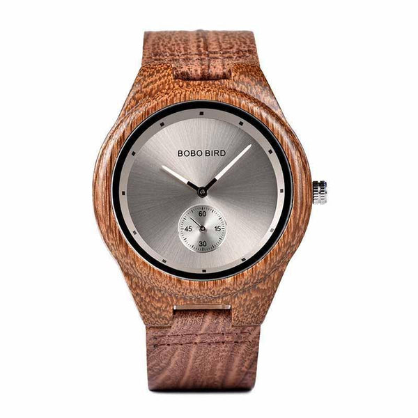WOOD WATCH LEATHER BAND WATCHES 1 Bobo Bird Q24 Retro Style Leather Band Wood Watch For Men And Women