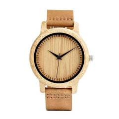 WOOD WATCH LEATHER BAND WATCHES Bobo Bird A10 Natural Handcrafted Leather Strap Wood Watch For Couples