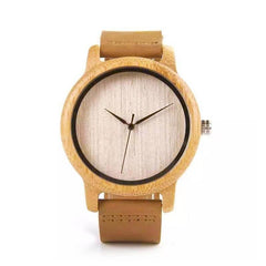 WOOD WATCH LEATHER BAND WATCHES Bobo Bird A16 Casual Handcrafted Leather Strap Wood Watch For Men