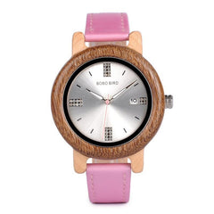 WOOD WATCH LEATHER BAND WATCHES Bobo Bird Ap29 Leather Strap Wooden Watch Great Gift For Ladies