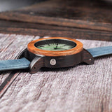 WOOD WATCH LEATHER BAND WATCHES Bobo Bird I03-I07 Big Size Leather Band Wooden Watch For Men