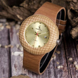 WOOD WATCH LEATHER BAND WATCHES Bobo Bird iQ17 Luxury Leather Band Wood Watch For Women