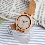WOOD WATCH LEATHER BAND WATCHES Bobo Bird L09 Casual Leather Band Bamboo Wood Watch Great Gift For Her