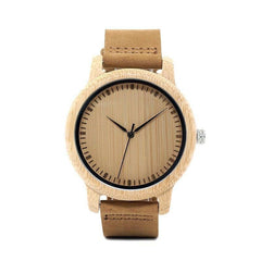 WOOD WATCH LEATHER BAND WATCHES Bobo Bird L19 Casual Handmade Leather Band Wood Watch For Couples
