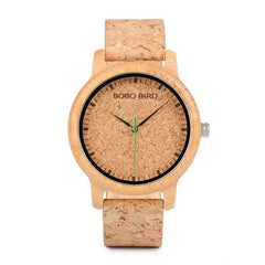 WOOD WATCH LEATHER BAND WATCHES Bobo Bird M12 Natural Handmade Leather Band Wood Watch For Lovers