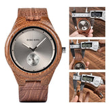 WOOD WATCH LEATHER BAND WATCHES Bobo Bird Q24 Retro Style Leather Band Wood Watch For Men And Women