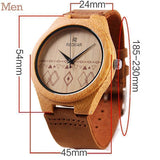 WOOD WATCH LEATHER BAND WATCHES Redear Bamboo Wood Watch With Leather Band Strap For Men And Women