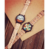 WOOD WATCH LEATHER BAND WATCHES Shellhard Bamboo Wood Watch With  Leather Band Strap For Women