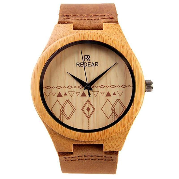 WOOD WATCH LEATHER BAND WATCHES Women Redear Bamboo Wood Watch With Leather Band Strap For Men And Women