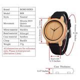 WOOD WATCH SILICONE BAND WATCHES Bobo Bird B05 Casual Rubber Band Bamboo Wood Watch For Ladies