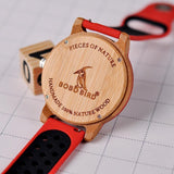 WOOD WATCH SILICONE BAND WATCHES Bobo Bird R11 Silicone Strap Wood Watch For Men And Women