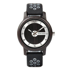WOOD WATCH SILICONE BAND WATCHES R11-1 Bobo Bird R11 Silicone Strap Wood Watch For Men And Women