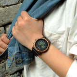 WOOD WATCH STAINLESS STEEL WATCHES Bobo Bird P18 Eco Handmade Stainless Steel Wood Watches For Women
