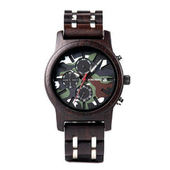 WOOD WATCH STAINLESS STEEL WATCHES Bobo Bird R17 Military Style Stainless Steel Wood Watch For Men