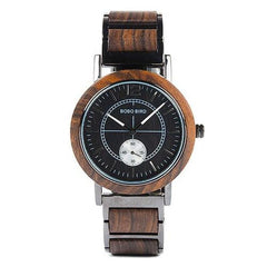 WOOD WATCH STAINLESS STEEL WATCHES R13-1 Women Black Bobo Bird R13 Stainless Steel Strap Wood Watch For Men And Women