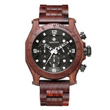 WoodWatchBox.com ALL WOOD WATCHES Red / China Sihaixin A19G Waterproof Natural Handmade Men's Walnut Wooden Watch