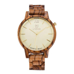 WoodWatchBox.com ALL WOOD WATCHES Uwood 1002 Handmade All Wood Watches For Men Quartz Wooden Wristwatch