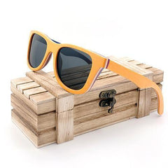 WoodWatchBox.com Grey Lens G028 Bobo Bird Ag12 Polarized Retro Vintage Wooden Sunglasses for Men