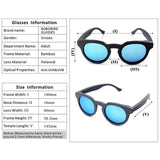 WoodWatchBox.com WOOD SUNGLASSES Blue Lens / China Bobo Bird G08 Polarized Cat Eye Bamboo Wooden Sunglasses for Women