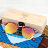 WoodWatchBox.com WOOD SUNGLASSES Default Title Bobo Bird G13 Uv400 Polarized Multi Color Wood Sunglasses for Women