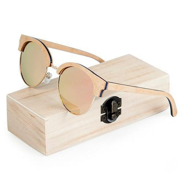 5d7f9877d908 WoodWatchBox.com WOOD SUNGLASSES Default Title Bobo Bird G14 Womens  Polarized Wood Sunglasses Retro Pink