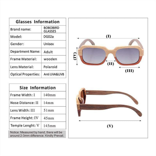 d8aa37448dd Previous. WoodWatchBox.com WOOD SUNGLASSES Grey Bobo Bird G02 Polarized  Natural All Wood Sunglasses ...