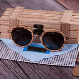 WoodWatchBox.com WOOD SUNGLASSES grey lens sunglasses Bobo Bird AG27 Fashion Retro Vintage Polaroid Sunglasses for Women